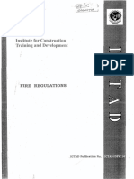 ICTAD Fire Regulations