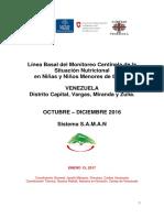 Linea Basal Del Monitoreo Centinela de La Situacion Nutricional Caritas de Venezuela