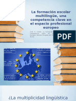La Formación Escolar Multilingüe, Una Competencia Clave