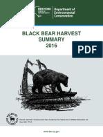 2016 New York bear harvest report