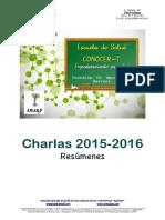Resúmenes Charlas 2015-2016