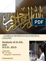 Classical Method of Quatitative Analysis - Nabila Hassan