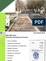 ABNT NBR 16416 Pavimentos Permeáveis de Concreto