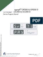 Instrumentarium Dental OP-200 Dental Panorama X-Ray - Service Program Manual