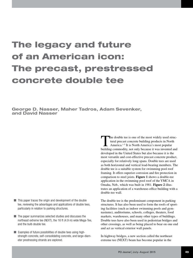 PCIJournal July 2015 Legacy Future American Icon Precast