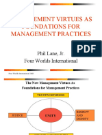 Management Virtues as Foundations for Management Practices PowerPoint Presention by Phil Lane Jr.