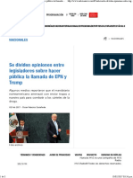 02-02-17 Se Dividen Opiniones Entre Legisladores Sobre Hacer Pública La Llamada de EPN y Trump - Noticias MVS