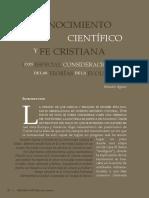 Agazzi Conocimiento Cientifico y Fe Cristiana