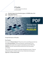 Grasp the Basics of Puzzles