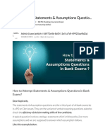 How to Attempt Statements & Assumptions Questions in Bank Exams