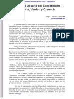 Ortega y El Desafío Del Escepticismo - Ciencia, Verdad y Creencia
