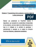 Caracteristicas de Los Productos y Servicios Objeto de La Oferta Internacional
