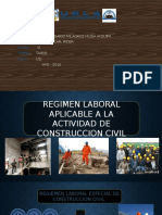 Regimen Laboral Aplicable a La Actividad de Construccion Civil