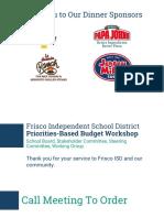 Presentation on Frisco ISD priorities-based budget workshop Feb. 9, 2017
