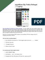 Cara Mudah Menjadikan Hp Nokia Sebagai Modem pada P1.docx