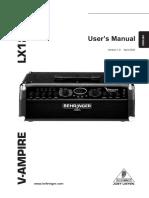 Manual Behringer Ampli v ampire