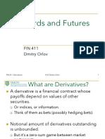 Derivatives Forwards + Options