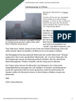 Gefährliche Luftverschmuzung in China
