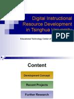 Digital Instructional Resource Development in Tsinghua University in Beijing
