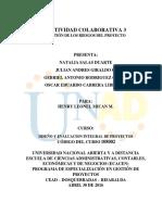 Diseño y Evaluacion Integral de Proyectos 3