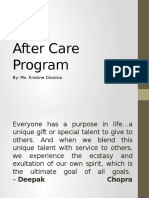After Care Program by Kristine Dionisio
