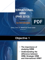 IHRM Lecture 1