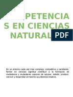 Competencias en Ciencias Naturales