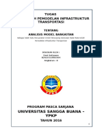 Tugas I Pemodelan Infrastruktur Transportasi