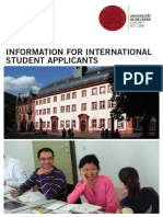 2015 06 10 International Student Applicants General Information