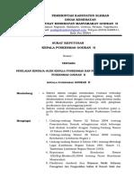 SK Penilaian Kinerja Oleh Kepala Puskesmas Dan Penanggung Jawab