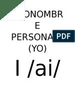 Pronombre Personal i