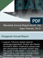 Menelisik Annual Report BUJK Tbk