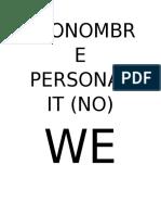 Pronombre Personal We