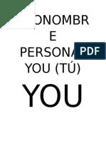 Pronombre Personal You