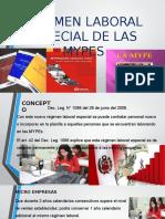 Regimen Laboral Especial de Las Mypes