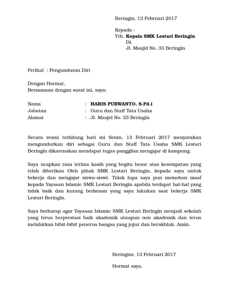 Contoh Surat Pernyataan Minta Maaf Kepada Guru Brad Erva Doce Info