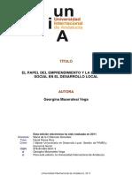 Maceratesi Vega - El Papel Del Emprendimiento y La Economía Social en El Desarrollo Local