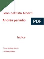 Alberti y Andrea Palladio
