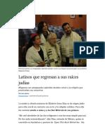 Latinos que regresan a sus raíces judías