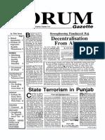 The Forum Gazette Vol. 4 Nos. 8 & 9 May 1-31, 1989