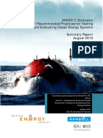 IEA OES Annex II – Development of Recommended Practices for Testing and Evaluating Ocean Energy Systems