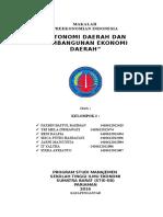 Makalah Otonomi Daerah Dan Pembangunan Ekonomi Daerah