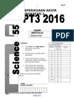 Soalan Trial PT3 Sains MRSM 2016