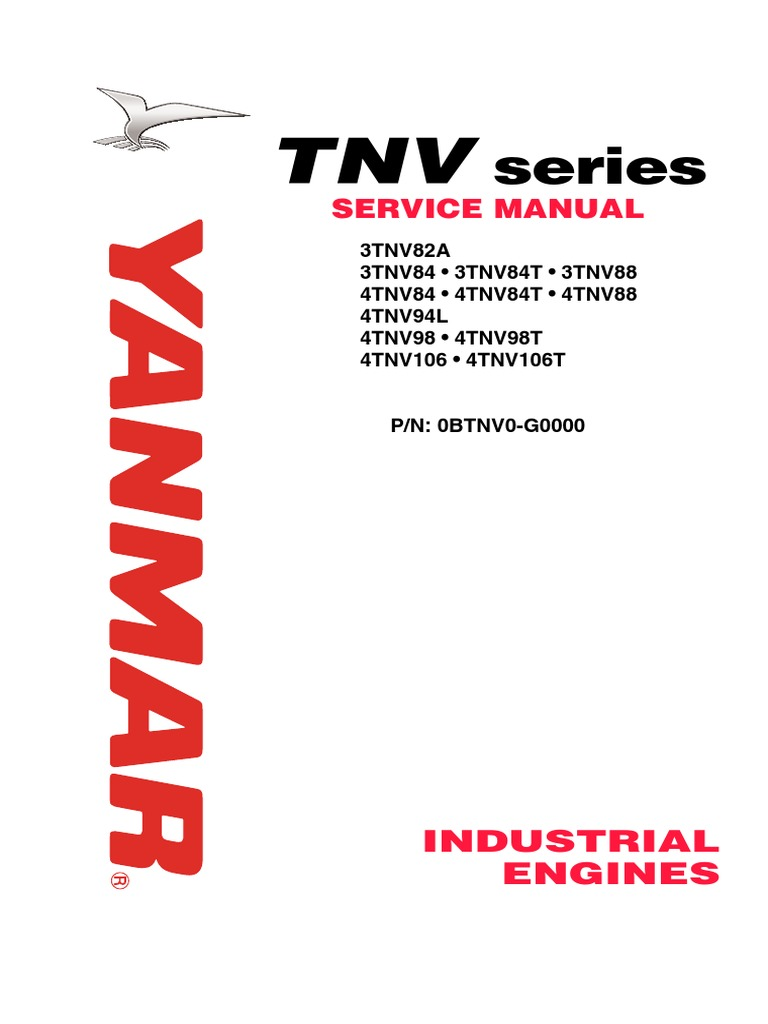 tnv direct inj service manual 3tne 4tnv internal combustion rh scribd com Yanmar 3TNV88 Specifications Yanmar 3TNV88 Specifications