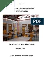 Bulletin de Rentree 2010