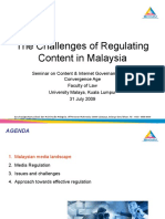 The Challenges of Regulating Content in Malaysia