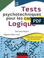 Bernard Myers-Tests Psychotechniques Pour Les Cadres _ Logique