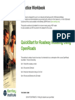 Quickstart for Roadway Modeling Using Openroads-practice Workbook