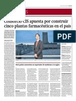 Consorcio CIS Apuesta Por Construir 5 Plantas Farmaceuticas