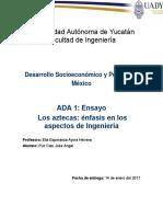 ADA 1 Ensayo Aztecas